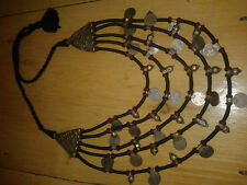 Banjara Tribale Kuchi MONETE RARE Belly Dance Collana vintage gypsy