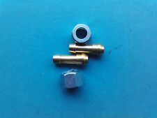 PETROL TAP SPIGOT TAILS 1/4 BORE PIPE & 7/16 GAS NUTS PETCOCK FUEL TAP MOTORBIKE