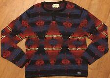Ralph Lauren D&S Southern western Cotton Henley Sweater Blue/red XXL RRP £110