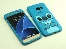 for Samsung Galaxy S7 Cute Disney Stitch Front + back Case cover Defender New