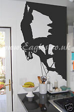 Vinyl wall art ROCK CLIMBER OUTDOOR PURSUITS MOUNTAINEERING decal
