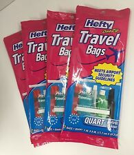 Hefty Travel Bags Meets Airport Security Guidelines Pack of 7 Bags Lot of 4 NEW
