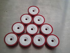 SUBBUTEO LIGHTWEIGHT PLAYER BASES WHITE INNER AND RED OUTER X 10