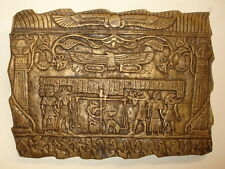 "Ancient Egyptian Wall Sculpture 12"" Judgement Day Ceremony Art"