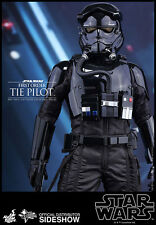 "Hot Toys Star Wars Force Awakens Tie Fighter Pilot 1/6 12"" Figure MISB In Stock"