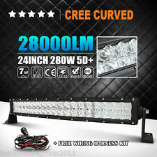 "5D CREE PK OSRAM 24""INCH 280W CURVED LED LIGHT BAR SPOT FLOOD OFFROAD CAR TRUCK"