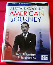 Alistair Cooke's American Journey 12-Tape UNA.Audio Book John Byrne Cooke WW2/II