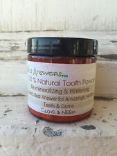 100% Natural Re-Mineralizing & Whitening Tooth Powder, Clove & Neem