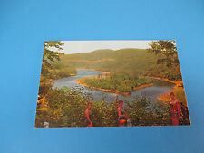 The Hawk's Nest Road And Island Port Jervis,NY Vintage Colorful Postcard PC17