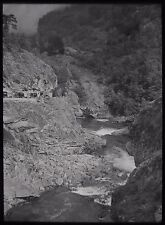 Glass Magic Lantern Slide NORWEGIAN LOCATION NO4 C1930 PHOTO NORWAY RIVER