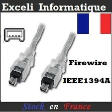 2M Firewire 4 Pin to 4Pin Mini Cable Lead IEEE 1394 i-Link DV Out 1394a