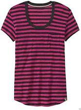 NWT Smartwool Boyfriend Tee Stripe Purple SZ S