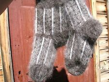 Knitted natural RUSSIAN goat fluff down wool MEN's SOCKS mohair fetish