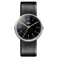 NEW RRP £90 Braun BN0021BKBKG Mens All Black Quartz Watch