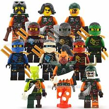 12 Ninjago Minifigure Skybound Ninja Jay Cole Building Toy fit Lego 2016 Bucko