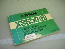 YAMAHA XS 650 B TX 650 A BETRIEBSANLEITUNG OWNER´S MANUAL MANUEL DU PROPRIÉTAIRE