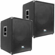 "Seismic Audio TWO NEW 18"" INCH SUB WOOFERS PA/DJ 1000 Watts RMS Subs"