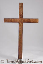 Christian Cross, Large 11½ inch Wood Cross for Wall Hanging, Item M5-11RC