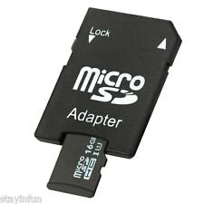 16GB TF Memory Card Class 10 with Micro SD Adapter Combo For phone car DVR 16G