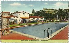 Postcard California Murrieta Guenther's Hot Springs 1945 Riverside County