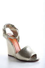 Charlotte Olympia Silver Mischievous Wedges Sandals Size 40 10 New In Box