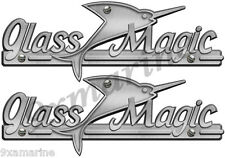 Two Glass Magic Boat Remastered name plates for boat restoration project.