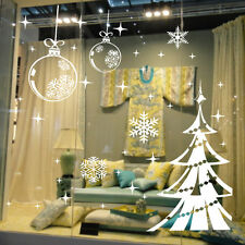 White Snowflake Merry Christmas Tree Vinyl wall sticker Decals Window decor