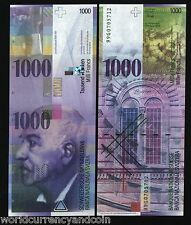 SWITZERLAND 1000 1,000 FRANCS P74 1999 PANTHEON UNC ROME CURRENCY MONEY BANKNOTE