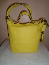 Coach Duffle Bag Legacy Leather Hobo - Yellow