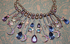 NWT Betsey Johnson Celestial STARGAZER Cosmic Statement Necklace