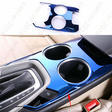 Fit For Ford Fusion Mondeo 13-14 Steel water cup holder Panel cover trim - Blue