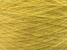 QUALITY YARN CONE 2 PLY 100% LINEN ARDSTRAW YELLOW COLOUR 950g 19 BALLS