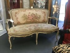 VICTORIAN 2 SEATER LOVE SEAT SETTEE LOUNGE FRENCH PROVINCIAL Tapestry