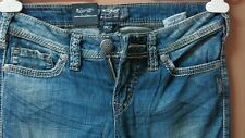 M78:New SILVER Stretchy Denim Jeans Pants for Women-Size 27