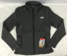 The North Face Women Agave Fleece Jacket Full Zip TNF Black Heather Size M