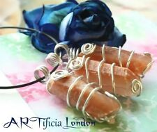 Good Vibes & Energy Calcite Crystal Necklace Silver Plated Handmade Jewellery
