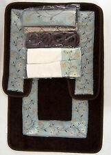 15 Piece Vintage Floral Shower Curtain and Bath Rug Set by Victoria Classics