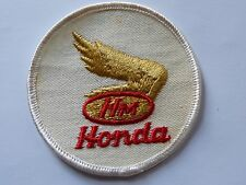 NOS Vintage Honda Motorcycles Patch White Red Gold Wing Motors Jacket