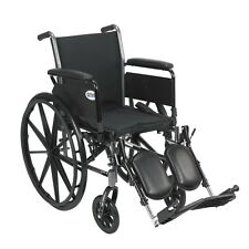 Cruiser Light Weight Wheelchair w/Various Flip Back Arm Styles & Front Rigging