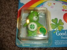Vintage Good Luck Care Bear Figure 60590 Kenner Miniature Figurine Shamrock Mint