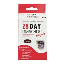 Single Brown Godefroy 28 day mascara Permanent Eyelash and Eyebrow tint Kit