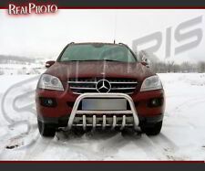 MERCEDES ML W164 2006-2011, BULL BAR, NUDGE BAR, A BAR + GRATIS! STAINLESS STEEL