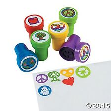 6 Peace Sign Self Ink Stampers Kids Crafts Birthday Party Favors Stamps Gifts