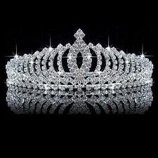 Wedding Bridal Princess Crystal Rhinestone Hair Accessory Tiara Crown Veil Gifts
