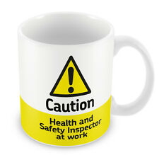 Caution Health and Safety Inspector at work Mug 157