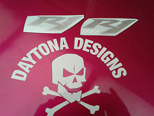 R1 YZF SILVER & WHITE CUSTOM FAIRING GRAPHICS DECALS STICKERS