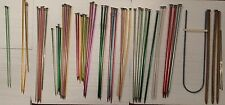 Vintage Lot x 50 Aluminum Wood Plastic Knitting Needles BOYE Susan Bates HERO ++