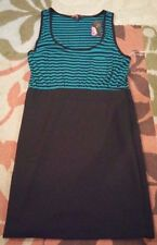 Forever 21 striped pencil skirt dress pocket sleeveless size L NWT