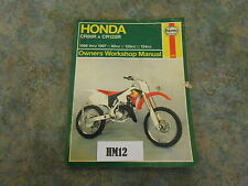 Honda CR80 CR125 manual de Haynes (HM12)