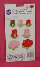Roses/Buds Chocolate Lollipop/Bon Bon Mold,Wilton,2115-1708,Clear Plastic